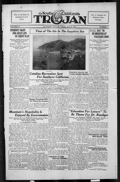 The Southern California Trojan, Vol. 4, No. 7, July 21, 1925