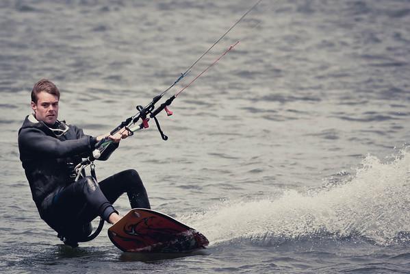 Kitesurfers at Pampas