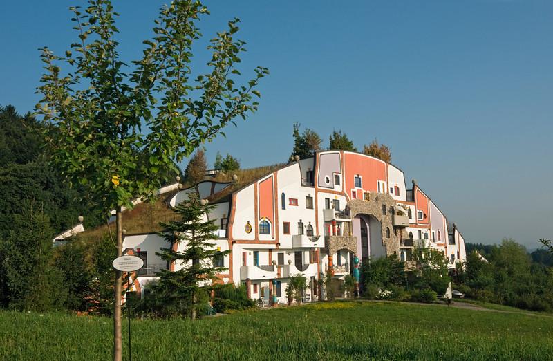 Steinhaus (Stone House) at Bad Blumau Hot Springs Hotel Village Designed by Architect Friedensreich Hundertwasser, Styria, Austria