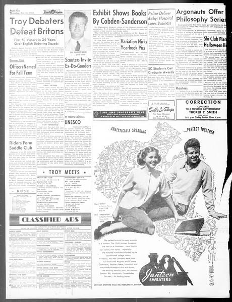Daily Trojan, Vol. 40, No. 29, October 21, 1948