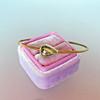 1.91ct Rustic Rose Cut Diamond Bangle in Yellow Gold 3