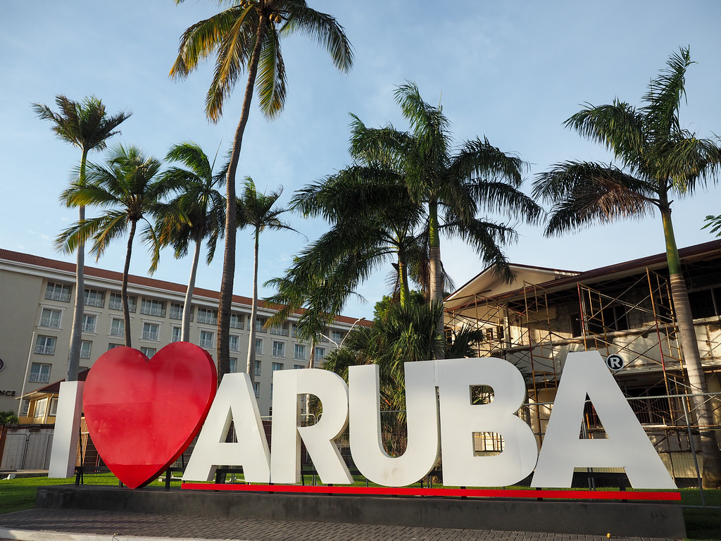I Love Aruba sign in Oranjestad