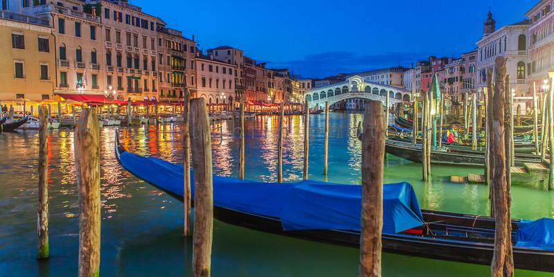$80 - Rialto Bridge at Dusk , Grand Canal , Venice