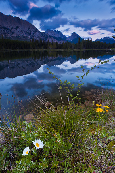Sunset in Peter Lougheed Provincial Park.