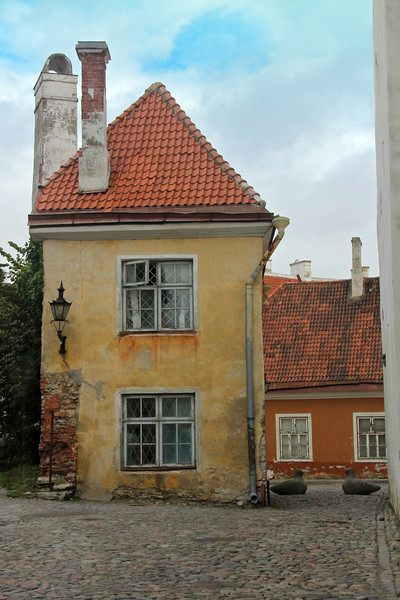 Another story-book view down the cobblestones streets of Old Town -Tallinn, Estonia