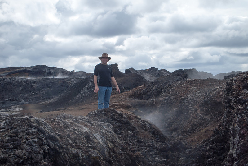 Roger with fumeroles