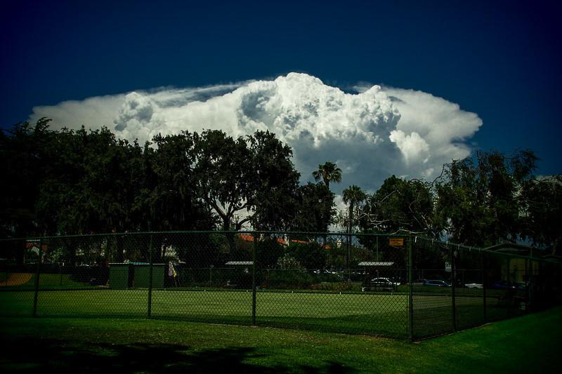 July 30 - Clouds descending upon Santa Monica fence.jpg