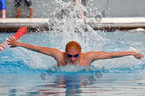 Boys Swimming - East Lansing at Okemos - Feb 18