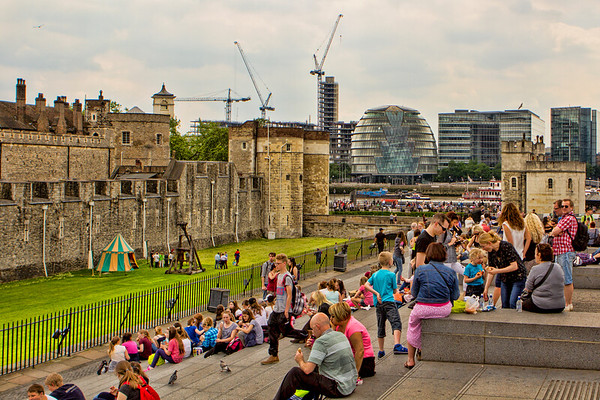 The Tower of London and London City Hall, London