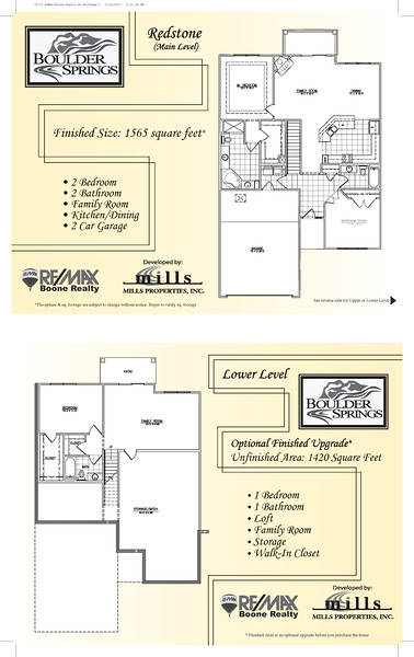 ReMax Real Estate Development Folder Insert