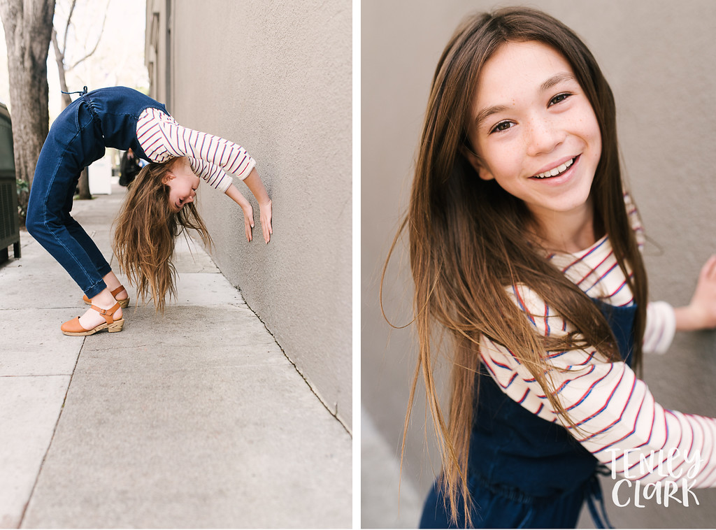 Faith. Bay Area kids sibling model headshot portfolio session for JE kids in Palo Alto by Tenley Clark Photography