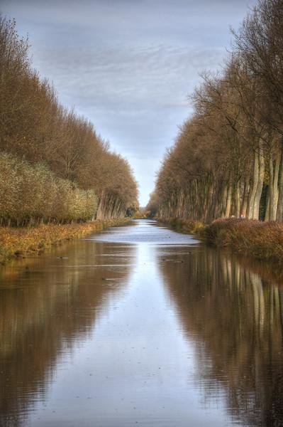 Canal - Damme, Belgium - November 3, 2010
