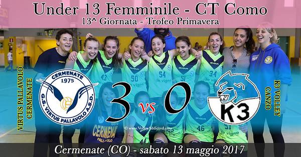 CO-u13f: Virtus Cermenate - K3 Volley Canzo