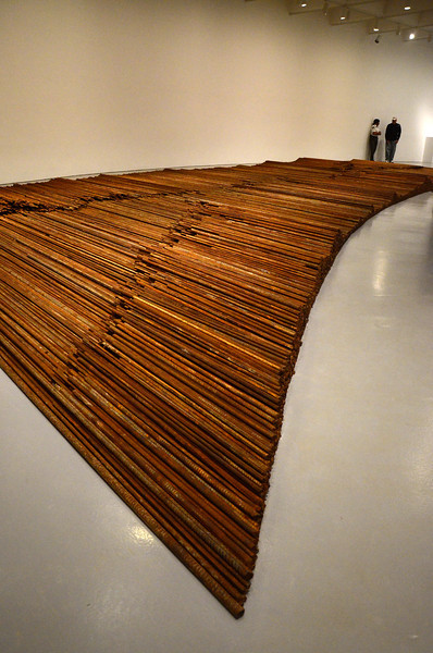 Tons of iron rebar, from Chinese school buildings collapsed by the 2008 earthquake. Smithsonian Institution Hirshhorn Museum and Sculpture Garden , Ai WeiWei, According to What?