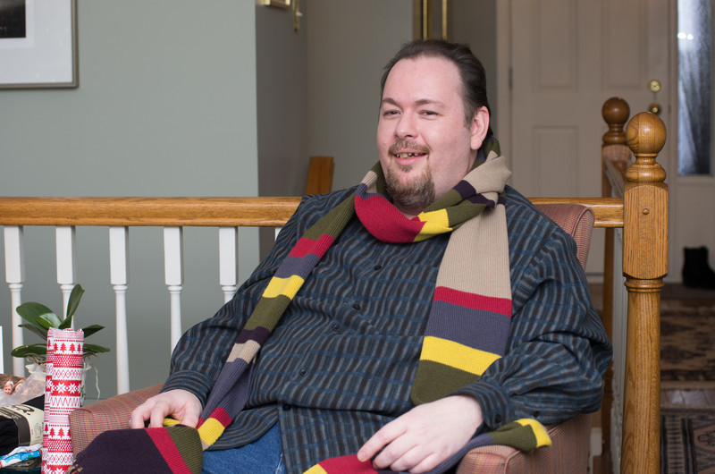 Mark with his 12 foot scarf