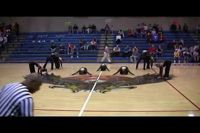 stepper & cheerleader video performance at basketball game