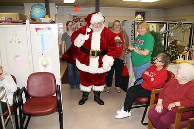 Santa Visits Tamaqua Area Adult Day Care Center, TAADCC, Tamaqua (12-23-2011)