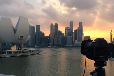 Singapore sunset - Behind the scene - 28/02/2014
