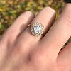 1.97ctw Antique Cluster Ring, GIA G SI2 11