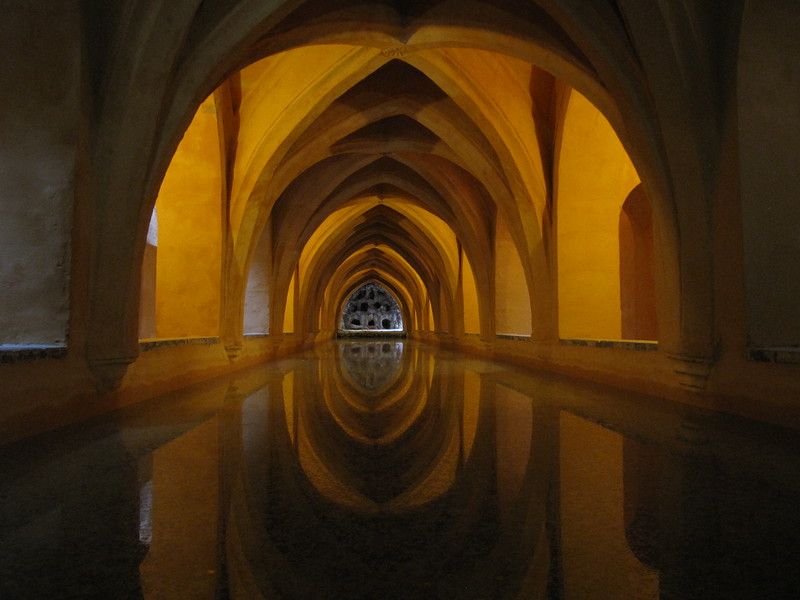 Storm sewer under the Real Alcázar