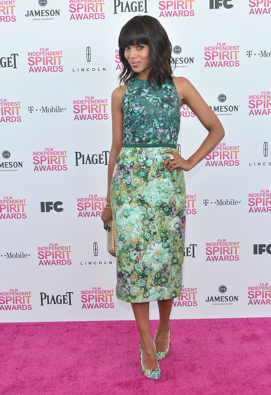 . SANTA MONICA, CA - FEBRUARY 23:  Actress Kerry Washington attends the 2013 Film Independent Spirit Awards at Santa Monica Beach on February 23, 2013 in Santa Monica, California.  (Photo by Alberto E. Rodriguez/Getty Images)