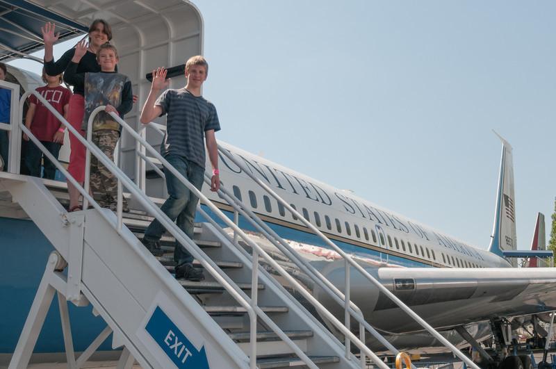In dieser Air Force One ist Präsident Kennedy geflogen!.
