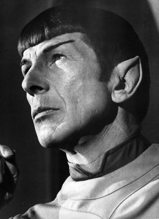 . US actor Leonard Nimoy as Mr Spock from the film \'Star Trek - The Motion Picture\', 1979.  (Photo by Bertil Unger/Evening Standard/Getty Images)