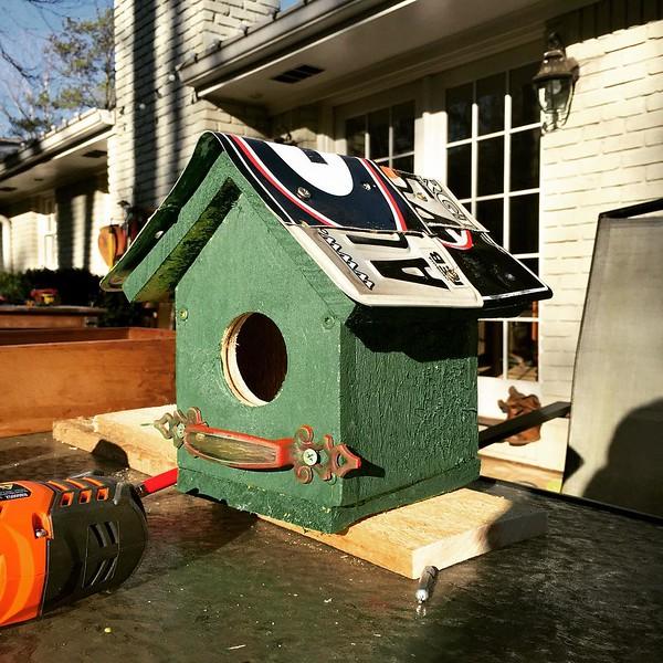Little afternoon birdhouse project #birdhouse #diy #uga
