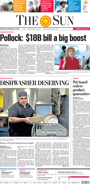 Dishwasher at 99 in Lowell up for statewide honor - November 13, 2019