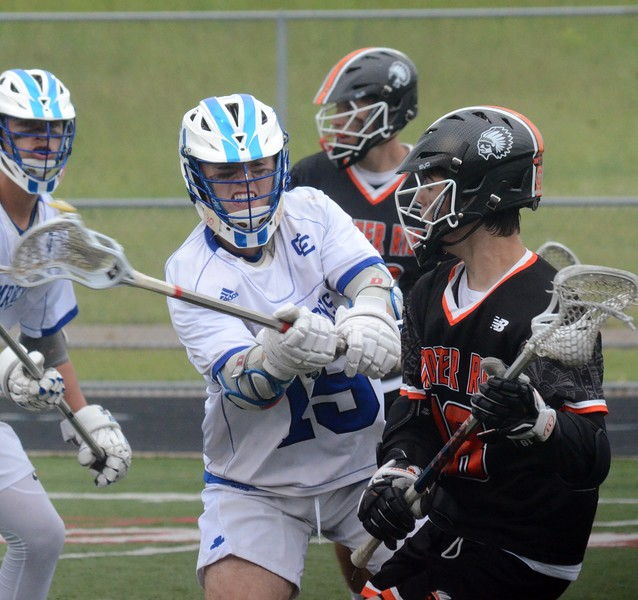 Detroit Catholic Central defeated Birmingham Brother Rice, 11-10, to win the Division 1 boys lacrosse state championship on Saturday at Parker Middle School in Howell. (Oakland Press photo gallery by Drew Ellis)