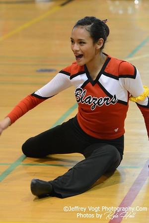 1-30-2016 Montgomery Blair HS Varsity Poms at Damascus HS, Photos by Jeffrey Vogt Photography with Kyle Hall