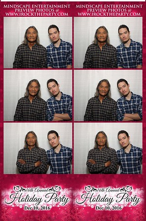 16th Annual Xmas Party Photo Booth Pictures
