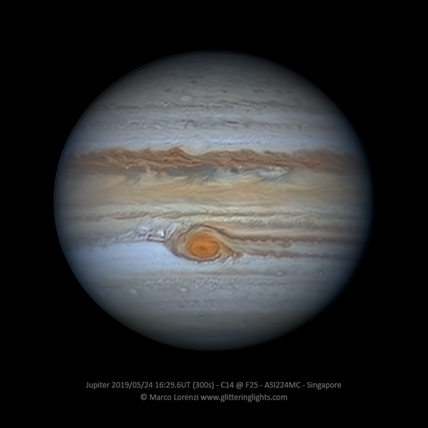 Jupiter on May 24, 2019 (16:29.6 UT)