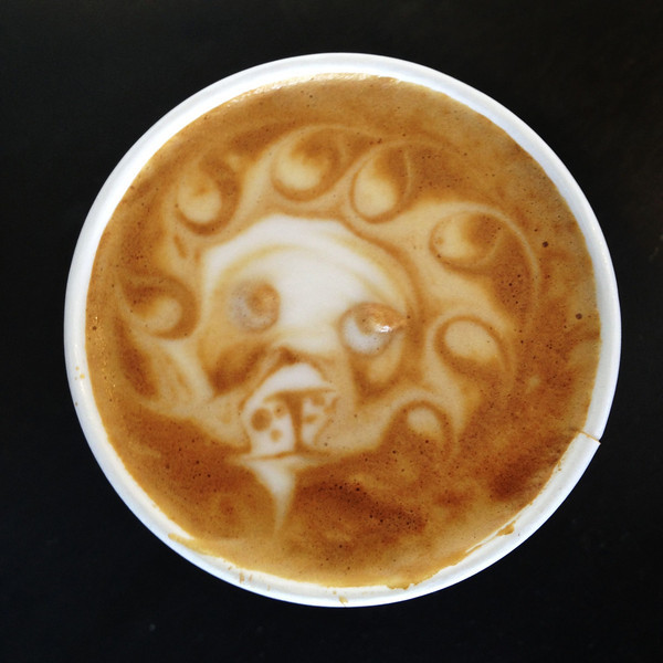 Coffee Art at the Elite Audio Coffee Bar