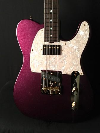 NOS Vintage T #3946, Blue Purple Sparkle, Grosh T/H Pickups