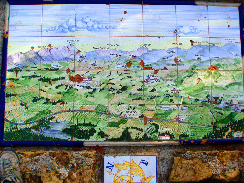 Ceramic map at Montcabrer