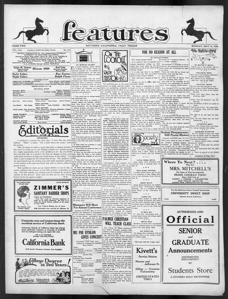 Daily Trojan, Vol. 19, No. 133, May 14, 1928
