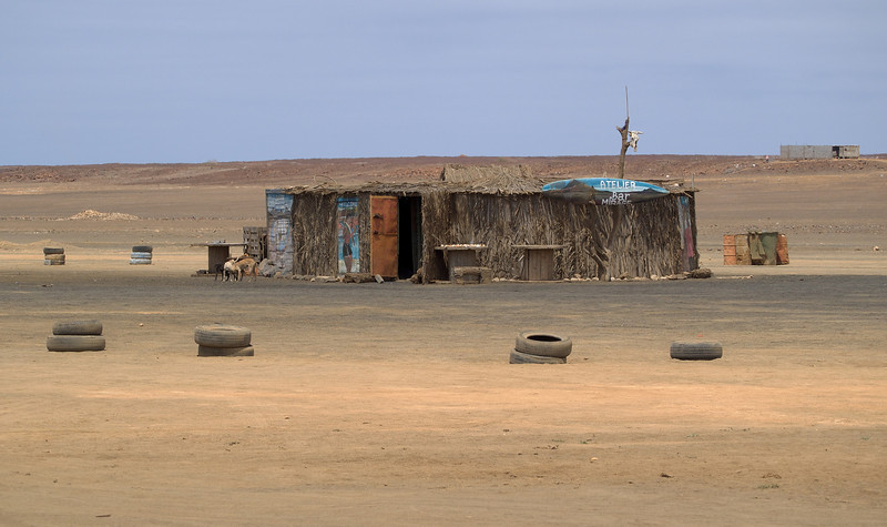 Right on the north side of Sal in Cape Verde a certain barren wasteland location offers great mirages. Yes there is been a Mirage Bar :-)