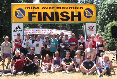 2003 Gutbuster Mount Doug - The Harrier runners and marshals after the race