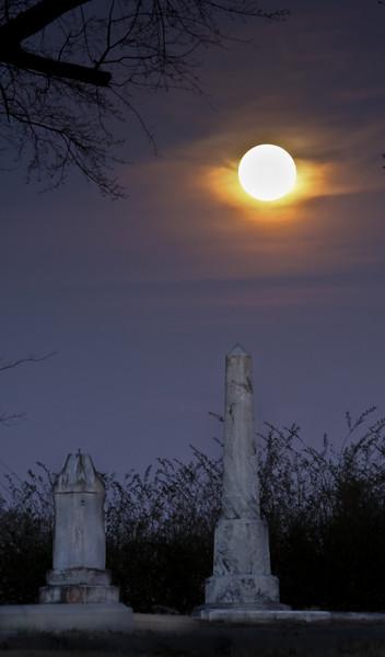 Full Moon at Riverside Cemetery
