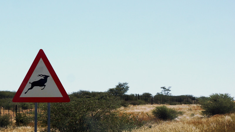 Road Sign - Namibia