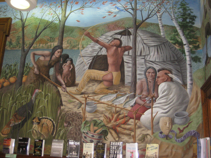 These murals were painted by artist Sante Graziani (born 1920).