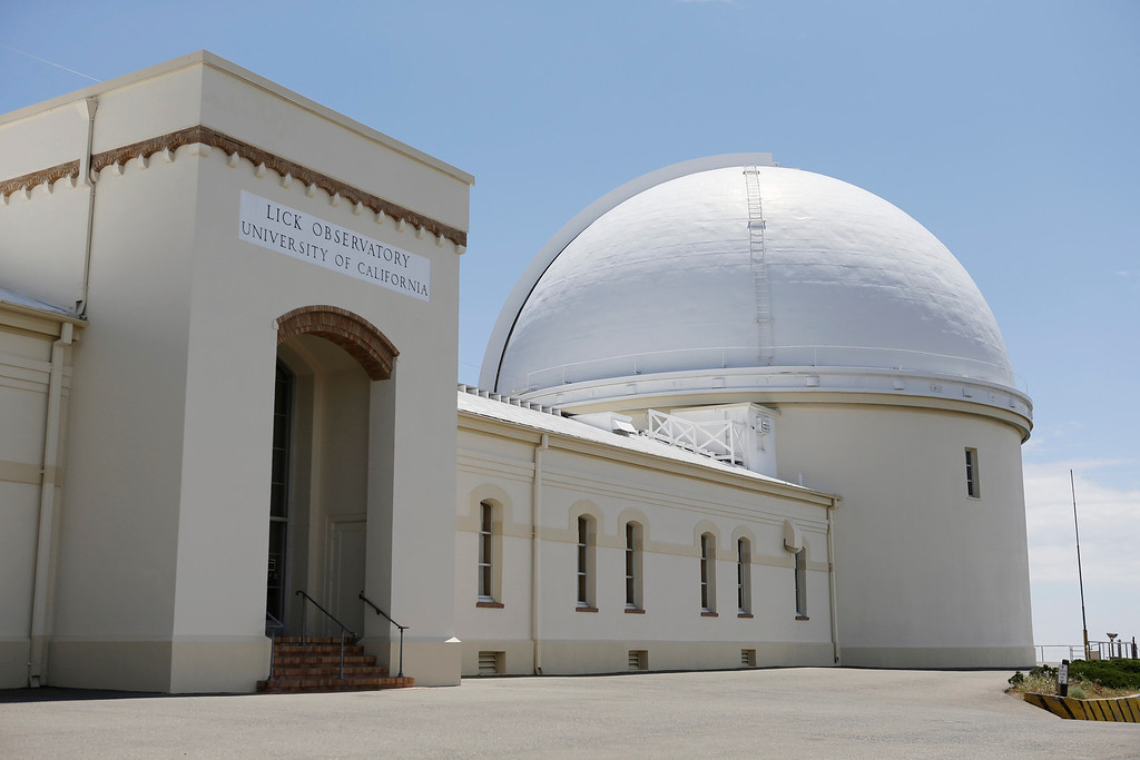 . Lick Observatory sits at the top of Mt. Hamilton at 4,209 feet, east of San Jose, Calif. on Wednesday, May 8, 2013. The observatory will be celebrating its 125th anniversary.  (Gary Reyes/ Bay Area News Group)