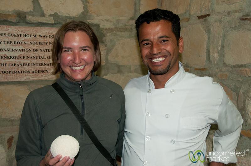 Happily Holding a Ball of Jameed - Dana, Jordan