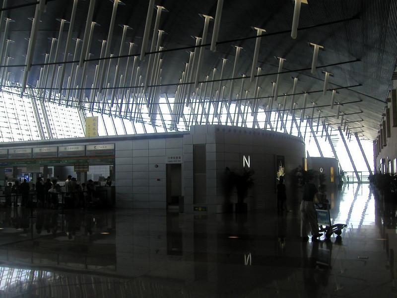 Pudong Airport, july 2004.