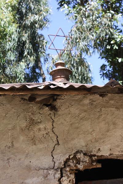 Falasha village synogogue. 130,000 Falasha have emigated to Israel.