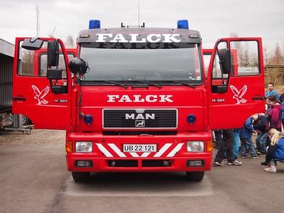 Holbækspejderne på besøg hos Falck i Snertinge