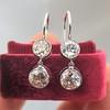 3.07ctw Double Old European Cut Dangle Earrings 10