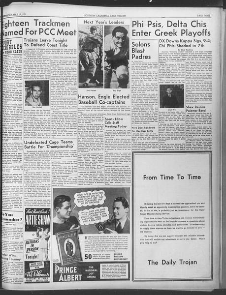 Daily Trojan, Vol. 30, No. 138, May 17, 1939