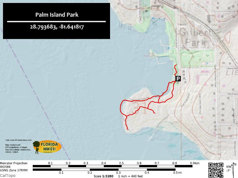 Palm Island Park Trail Map
